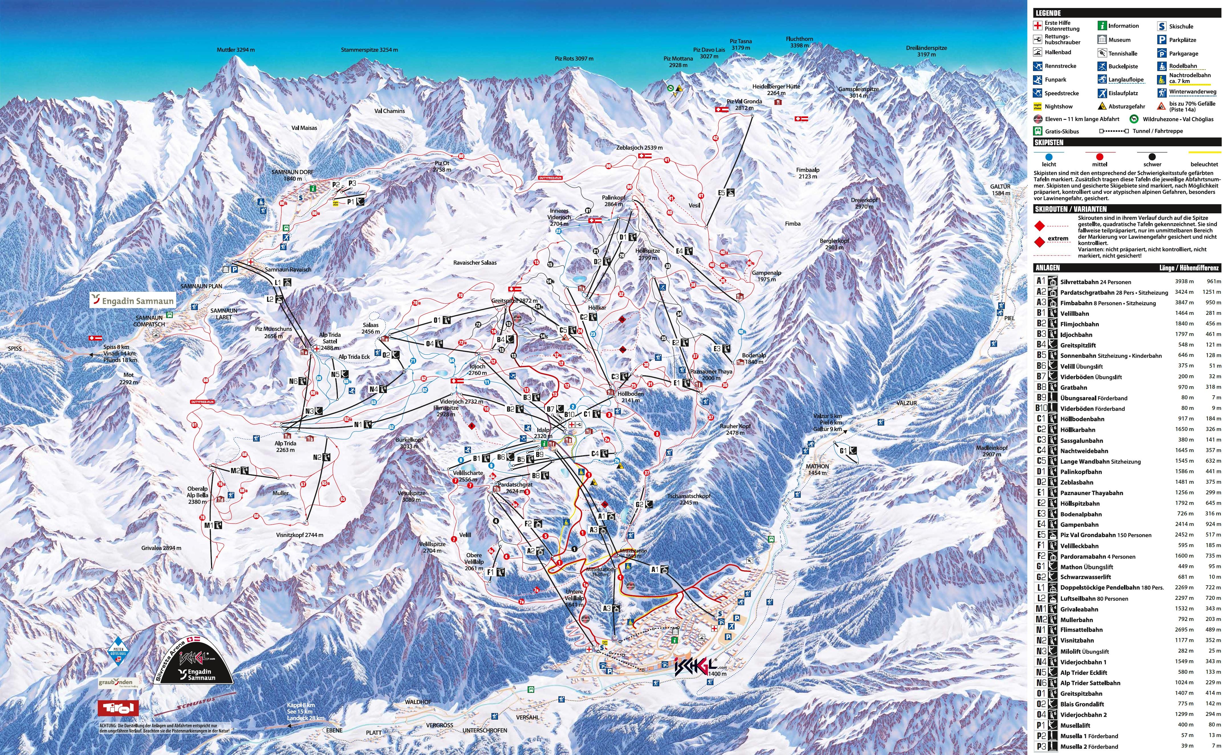 Ferienwohnung Chasa Muntera Samnaun Graubünden