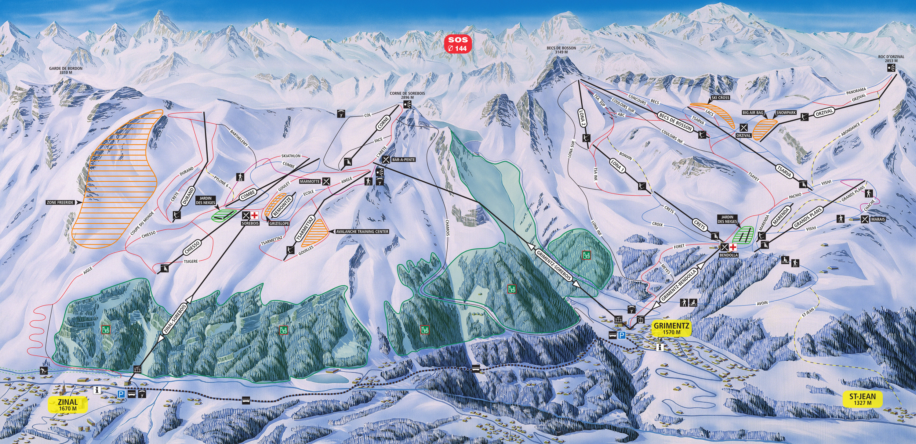 Grimentz Switzerland Tourism – Tourist Map of Switzerland