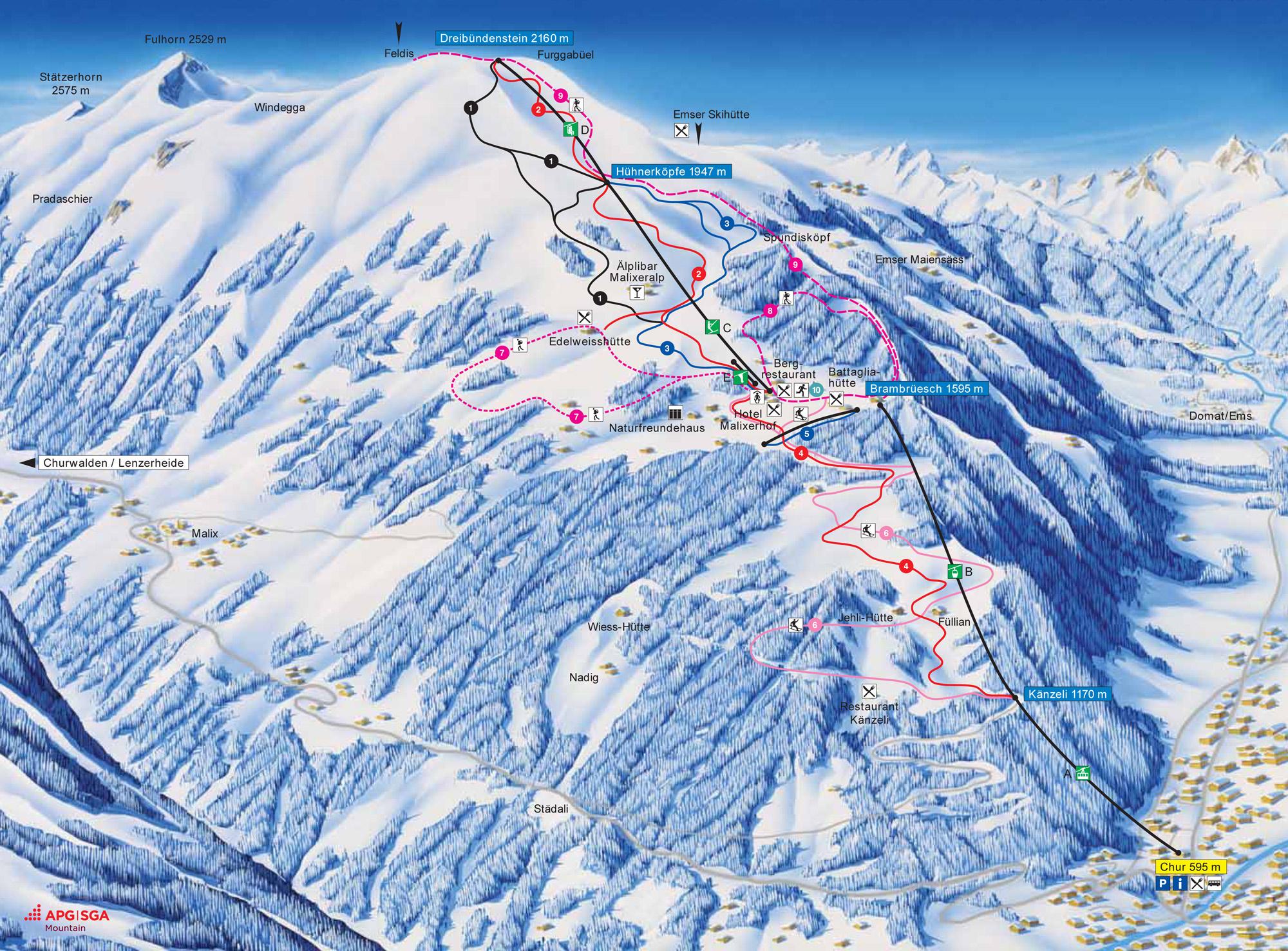 Chur Switzerland Tourism - Chur map